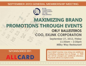 9th 2013 General Membership Meeting