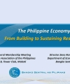 The Philippine Economy From Building to Sustaining Resilience